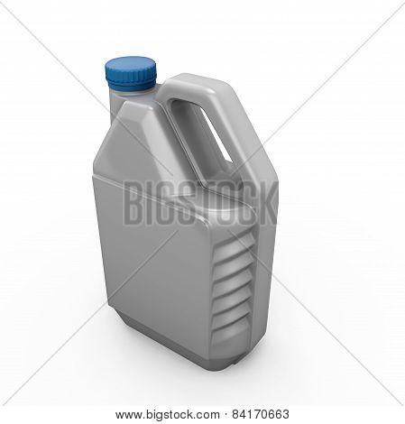 Gray Canister With Machine Oil
