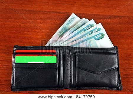 Russian Currency In The Wallet