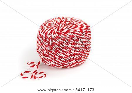 Butcher's Twine on a white background