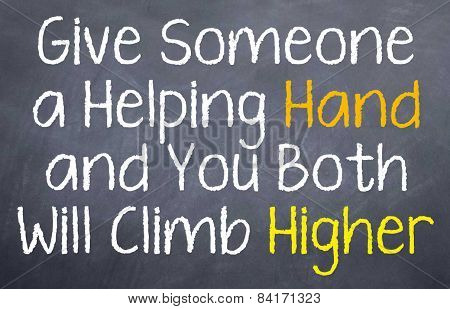 Give someone a Helping Hand