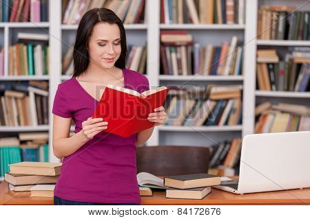 Woman In Library.