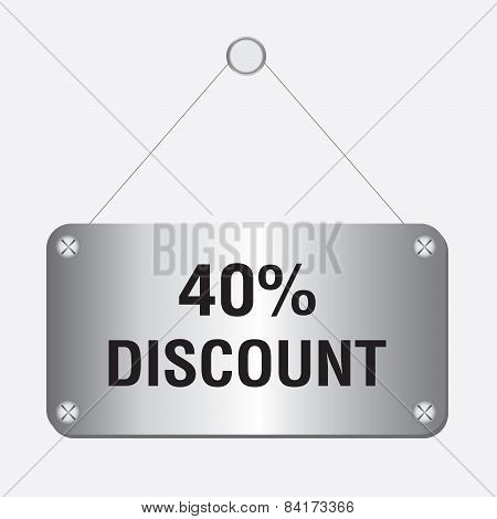 silver metallic 40 percent discount