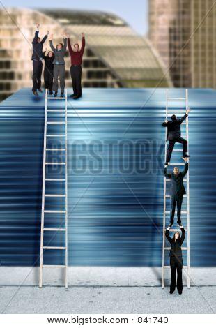 corporate ladder - blue version