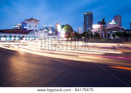Night view of Ho Chi Minh City