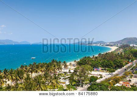 Aerial view over Nha Trang, Vietnam