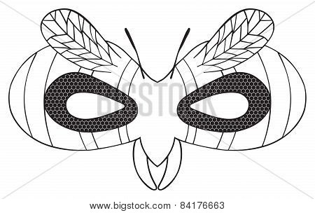 Happy Holiday - Mask Of Striped Wasp With Black Eyes
