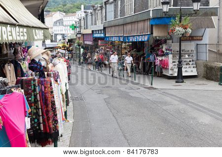 Typical Souvenir Shop As Found In Lourdes