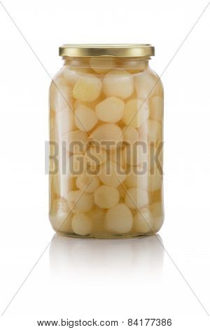Glass Jar Of Pickled Onions