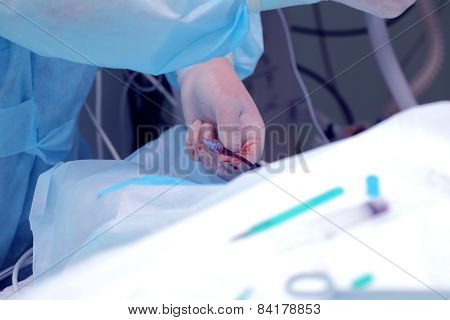 Anesthesiologist Work In The Operating Room