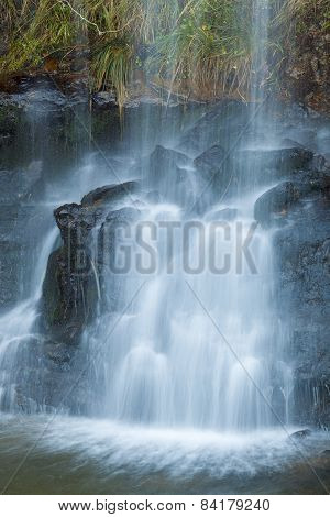 Waterfall In The Pas Valley, Cantabria, Spain