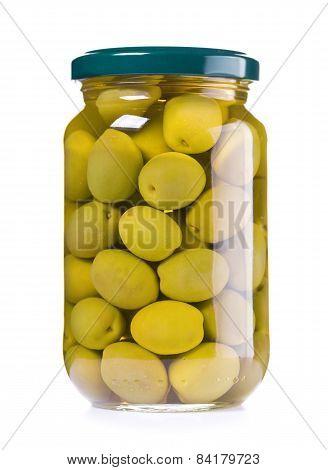 Jar Of Preserved Green Olives