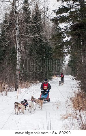 Beargrease 2015 Mid Distance Tony Mai And Bill Olson On Trail