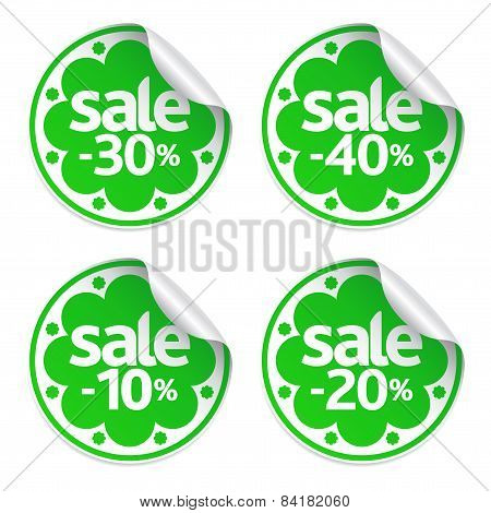 Best Sale green stickers set