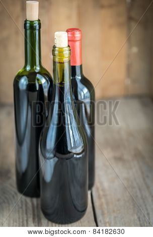 Bottles With Red Wine