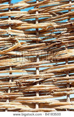 Rattan Wattled Wicker Pattern.twigged Fence.