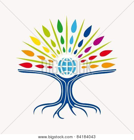Community Manager Education World Tree Concept