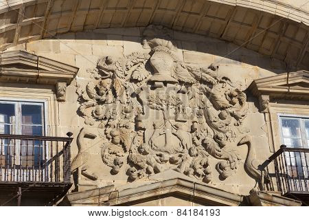 Coat Of Arms In Espinosa De Los Monteros, Burgos, Castilla Y Leon, Spain