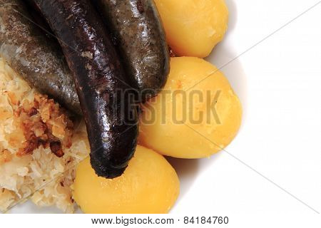 Black And White Pudding As Czech Typical Food
