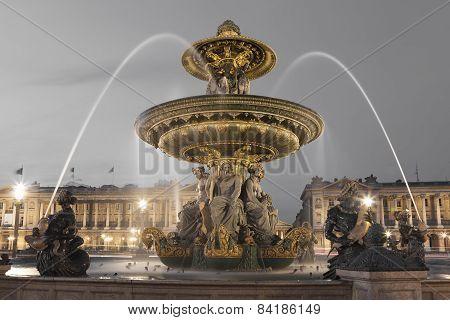 Fontaine Des Fleuves, Concorde Square, Paris, Ile De France, France