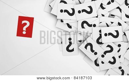 Question Mark Red Paper