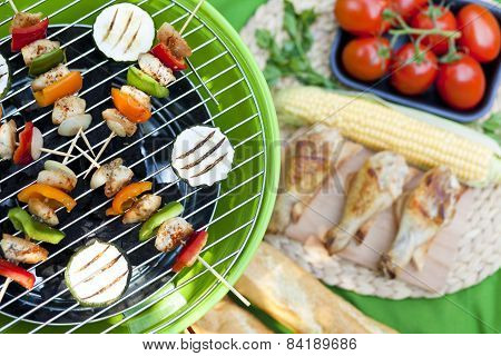 picnic with grill