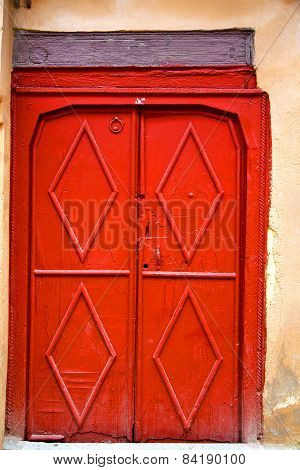 Historical Marble  In  Antique Building Door Morocco      Style Africa   Wood And Metal Rusty