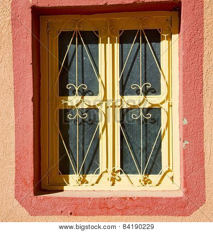 Window In Morocco Africa And Old  Red