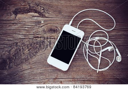 smartphone with headphones
