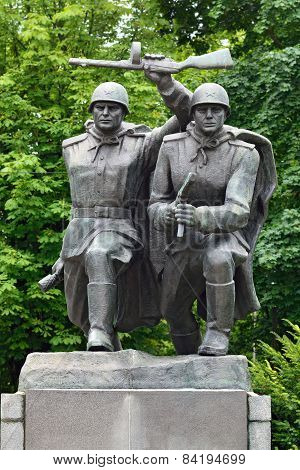 KALININGRAD, RUSSIA - JULY 13, 2014: Composition Storm. Memorial To 1200 Guards