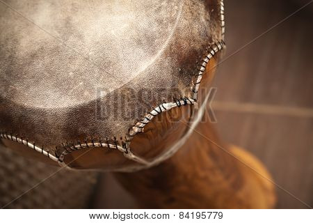 Closeup Photo Of Small African Drum