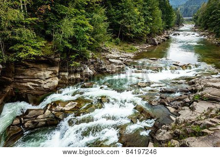 river, mountain, forest, air, landscape, nature, Ukraine