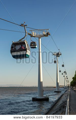 Aerial Tramway  In Lisbon