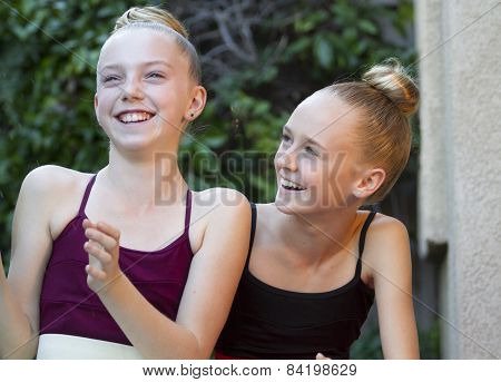 Two Ballerinas Having Fun