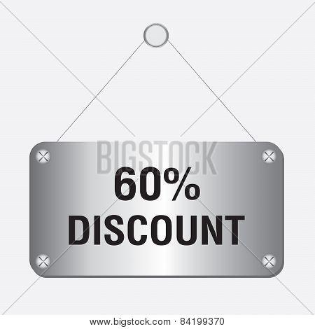silver metallic 60 percent discount