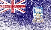 foto of falklands  - Flag of Falkland Islands with old texture - JPG