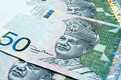 image of ringgit  - Close up on 50 Ringgit Malaysian papernotes - JPG