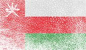 picture of oman  - Flag of Oman with old texture - JPG