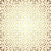 picture of motif  - Blue and gold luxury damask seamless motif  - JPG