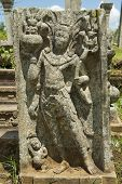 stock photo of carving  - Ancient carving in Anuradhapura - JPG