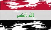 foto of rebel flag  - Flag of Iraq with old texture - JPG