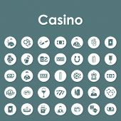 image of poker machine  - It is a set of casino simple web icons - JPG