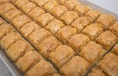 pic of baklava  - Traditional turkish sweets with pistachio  - JPG