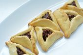 picture of purim  - Backed Hamentashen Ozen Haman Purim cookies for the Jewish holiday Purim - JPG
