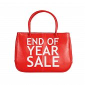 stock photo of year end sale  - End of year sale bag - JPG