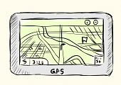 picture of gps navigation  - The sketch GPS of the navigator for the car - JPG