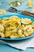 picture of zucchini  - Pasta cooked with zucchini and lemon zest - JPG