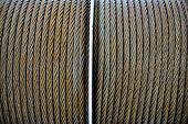 picture of coil  - Thick wire coil of cruise ship in natural light - JPG