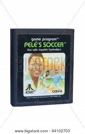 Pele's Soccer Atari 2600 Game Cartiridge
