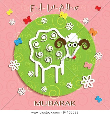 Muslim Community Festival Of Sacrifice Eid Ul Adha Greeting Card.