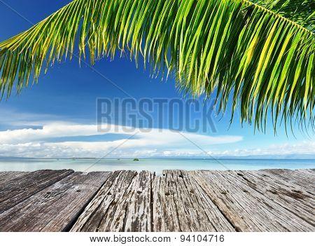 Beautiful wild beach at remote island, Philippines